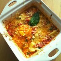 Egyszerű, olasz, paradicsomos sült tojás