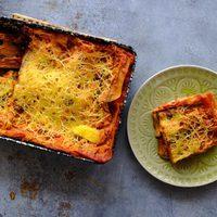Medvehagymás vegán lasagne