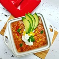 Lassan főtt BBQ vöröslencse chili