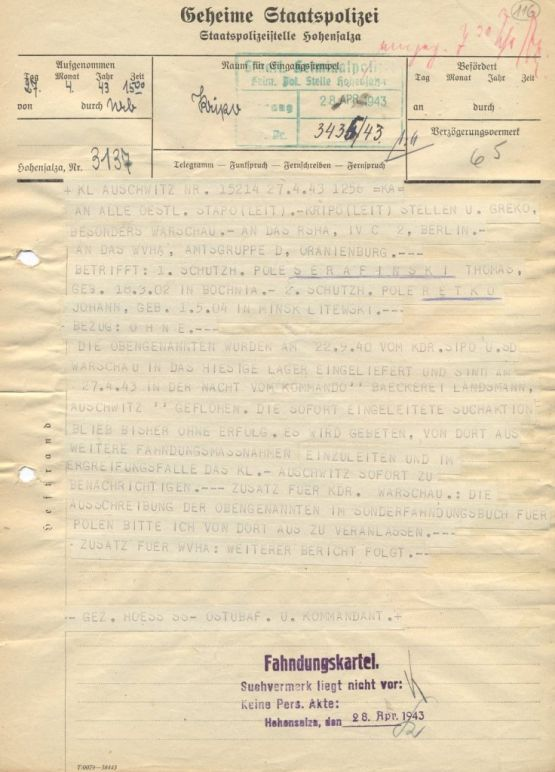 a_telegram_sent_from_the_camp_at_1500_on_27_april_1943_reporting_the_escape.jpg