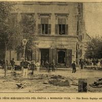 Robbanás Pécs főterén - 1896