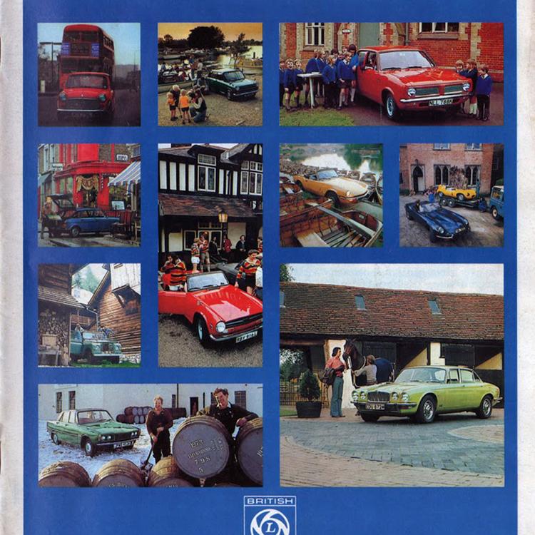 A British Leyland 1973-as német exportkatalógusa