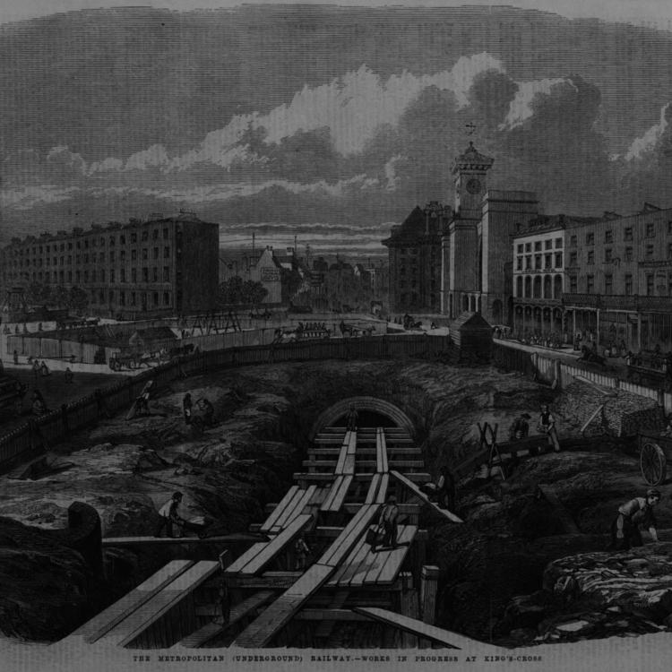 Londoni földalatti építése - 1861