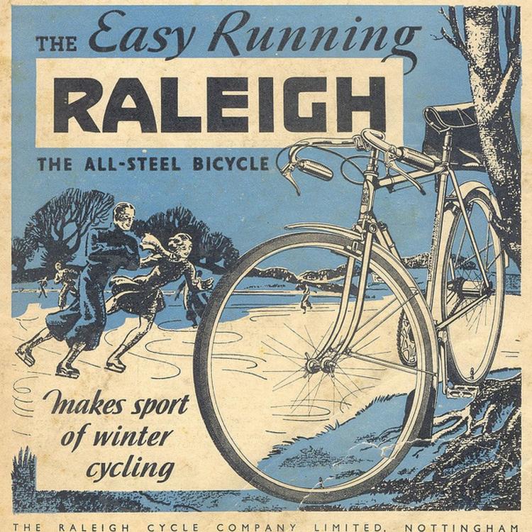 Régi bicajos hirdetések