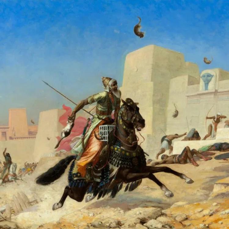 Az ókori csata, ahol macskákkal dobálóztak