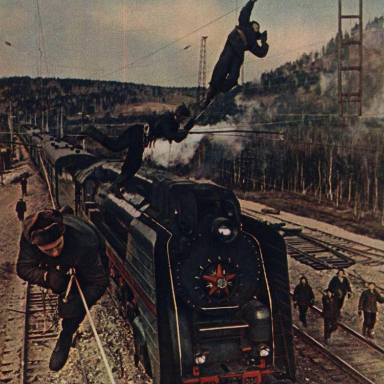 """A szovjet """"Cмена"""" magazin színes fotói 1955-60"""