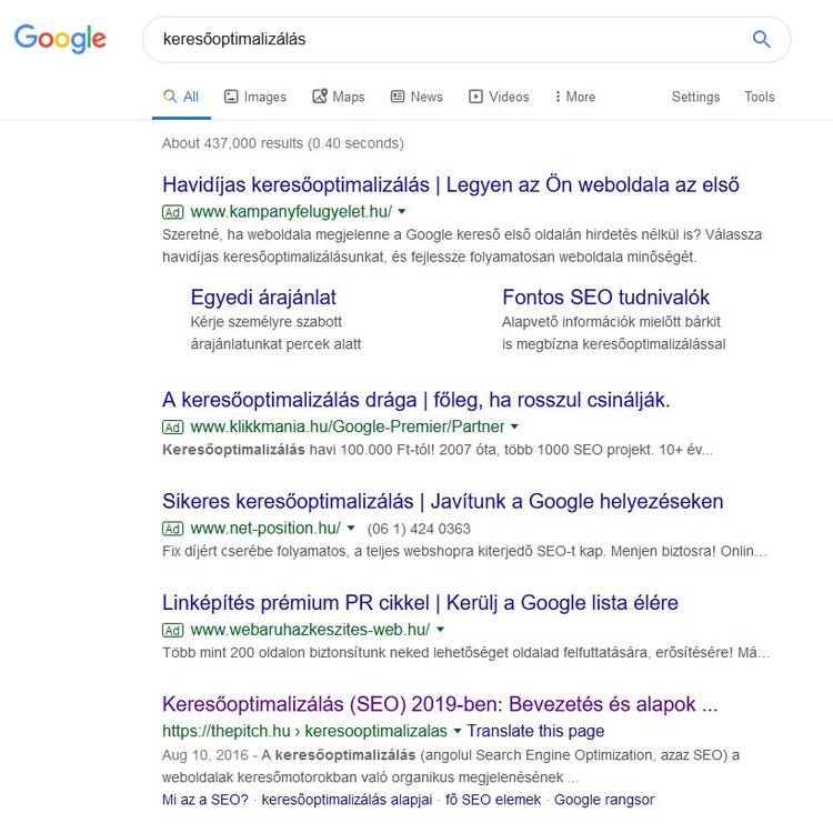 Hogyan működik a keresőoptimalizálás? (x)