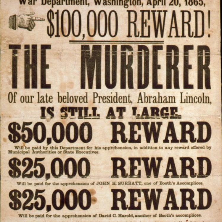 Körözési plakátok a XIX. századból