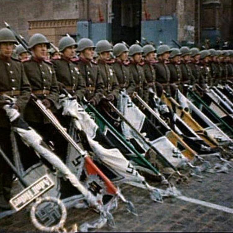 Szovjet győzelmi parádé színesben