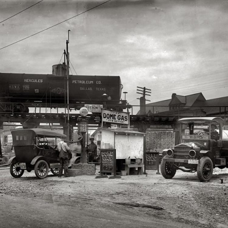 Amerikai benzinkutak 90 évvel ezelőtt