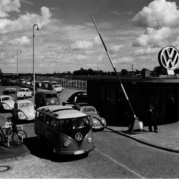 A wolfsburgi Volkswagen üzem - 1951