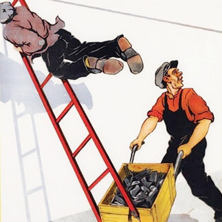 34 vicces, szovjet munkavédelmi plakát