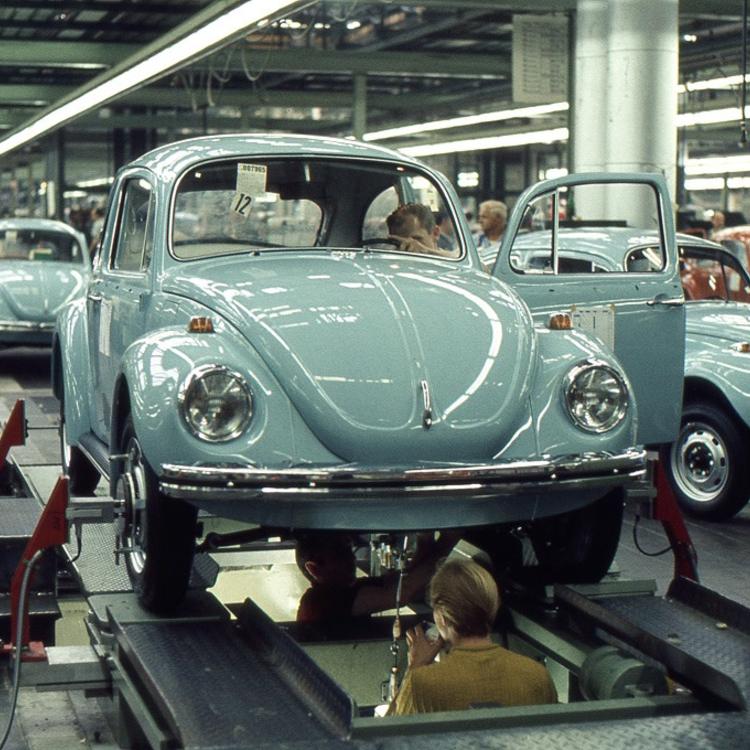 A wolfsburgi Volkswagen üzem - 1970