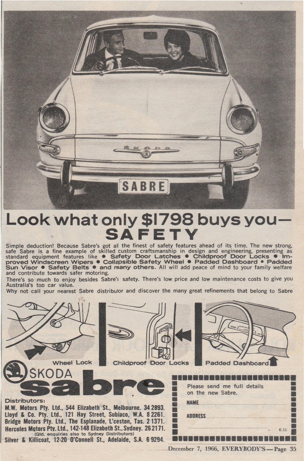1966. Ausztrál Skoda 100 hirdetés..jpg