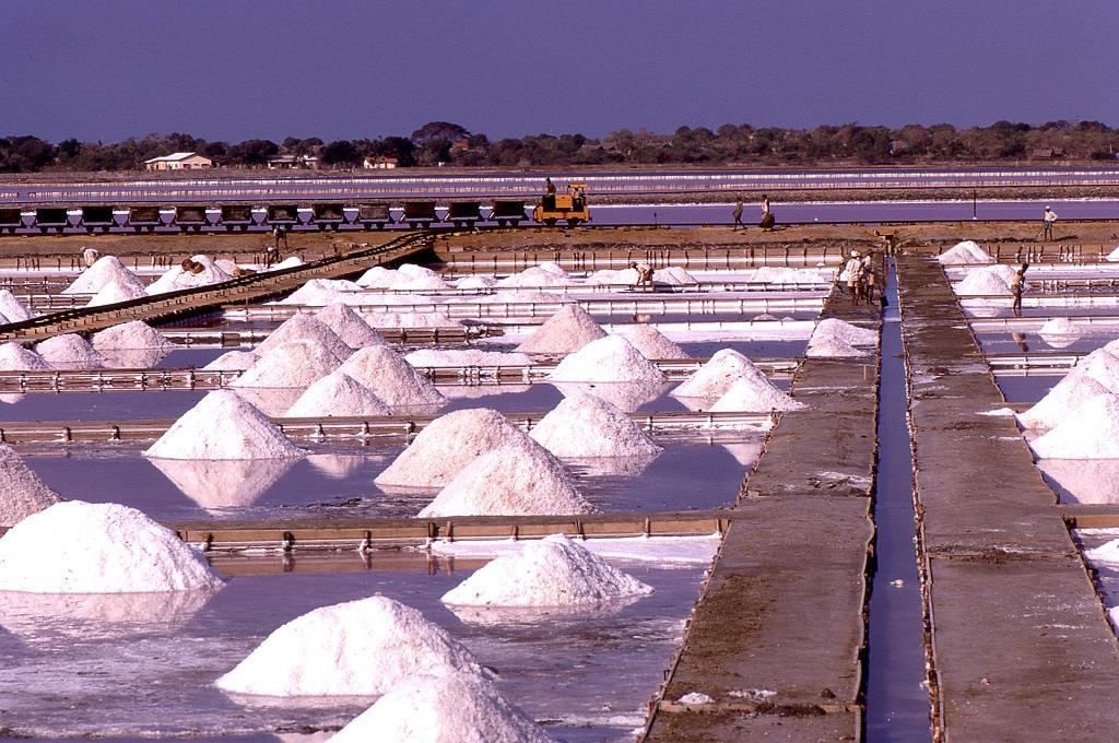 Sólepárló üzem Hambantotában