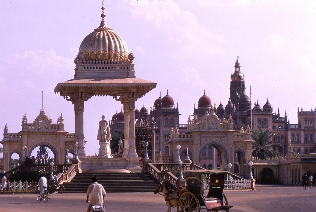 A maharadzsa palotája Májszúr (Mysore) központjában lenyűgöző épületegyüttes.