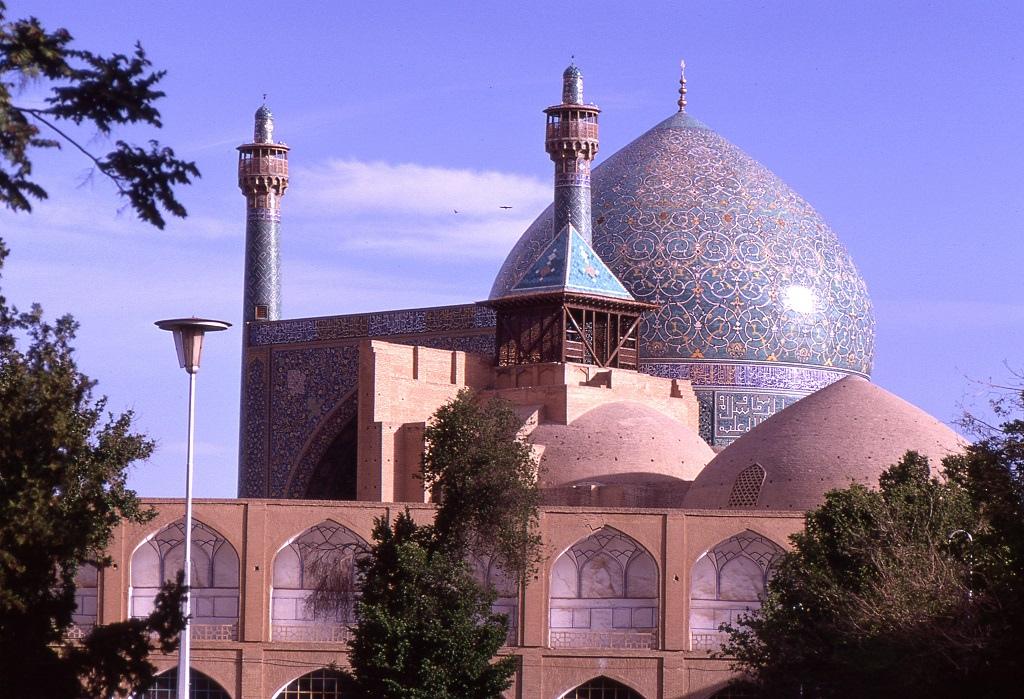 A csodás Iszfaháni mecset. 1611 és 1629 kööztt építtette a Nagy Abbász sah.