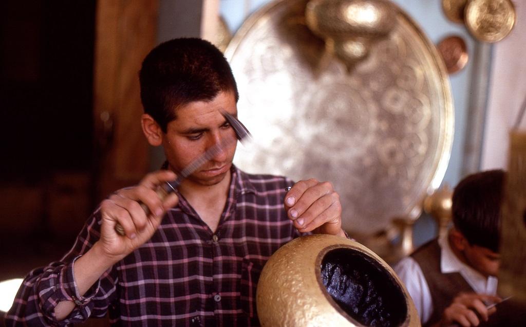 Iszfaháni fémműves