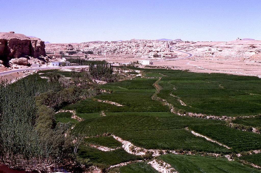 Iszfahán menti termékeny völgy