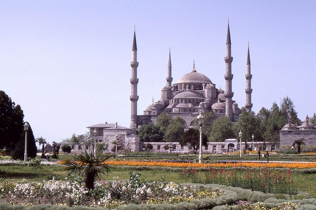 Ahmed szultán mecsetje Isztambulban, a 17. században épült