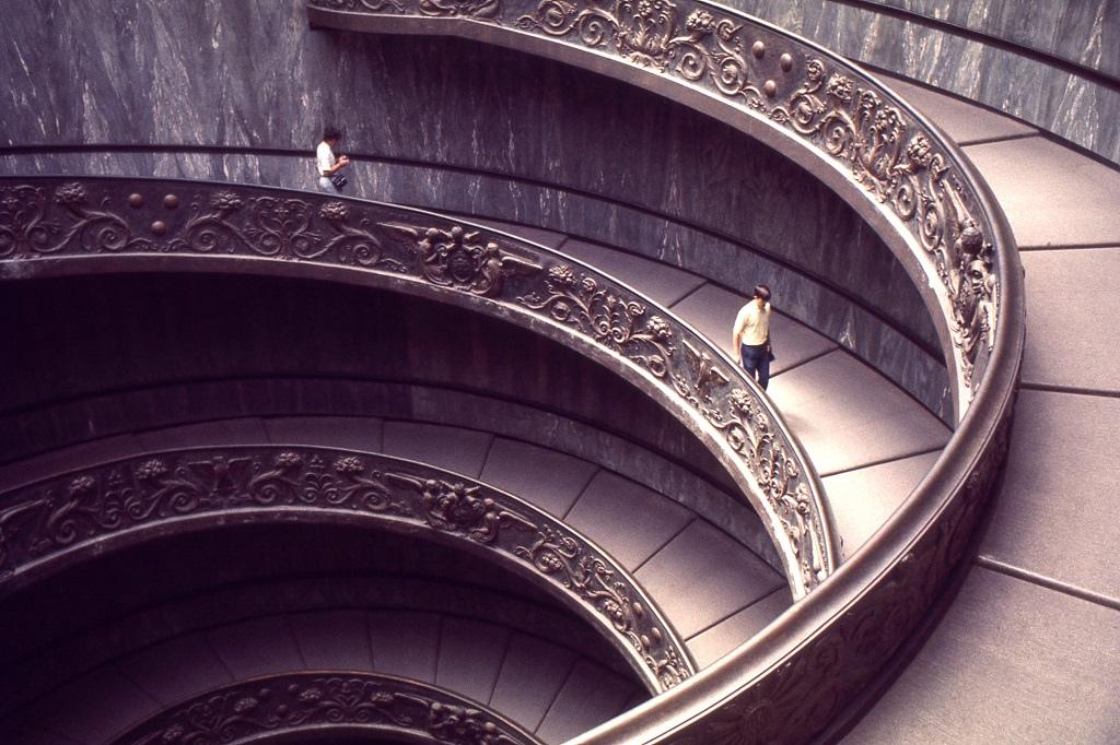 Spirális lépcső a Vatikánban