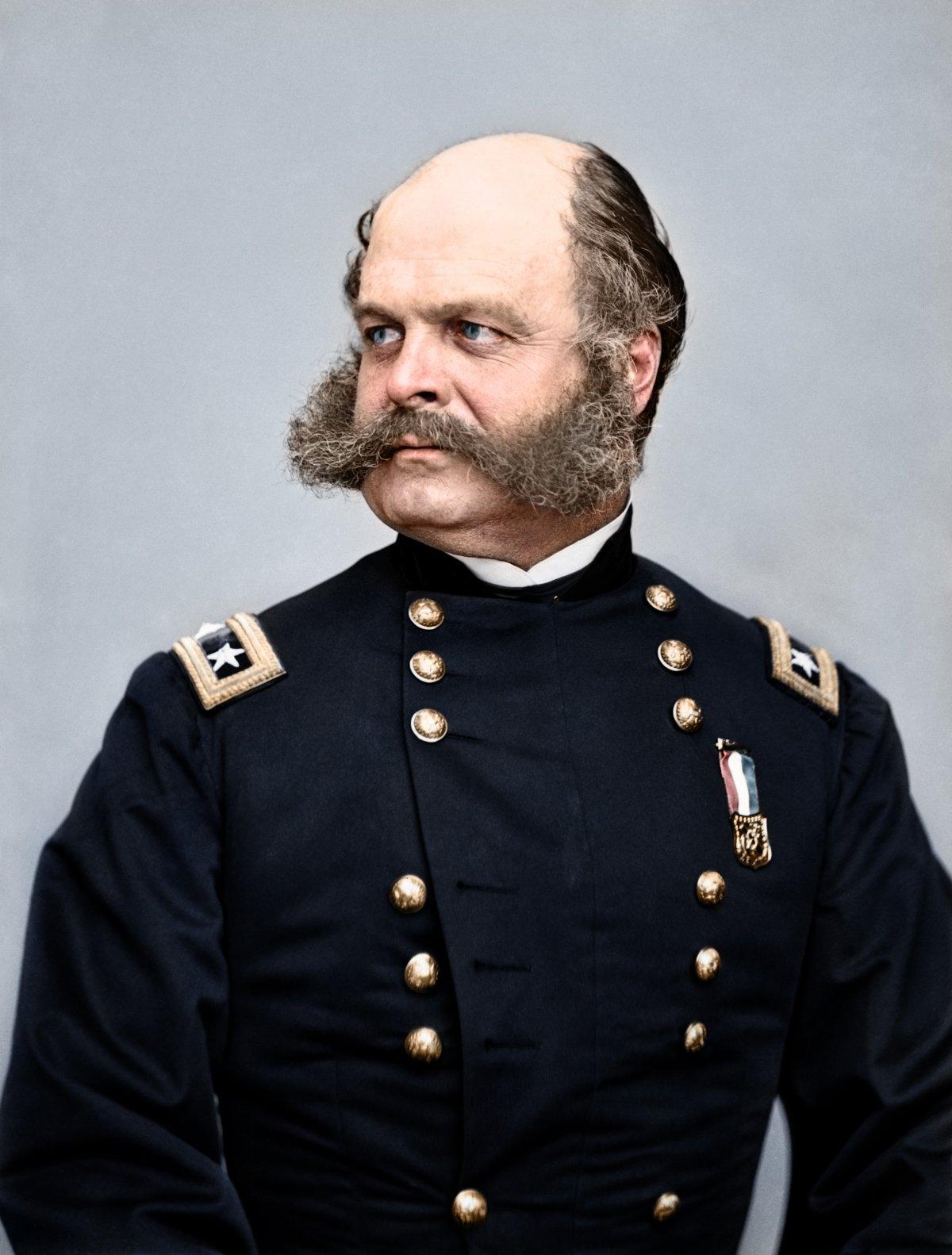 22_Major General Ambrose Burnside, the commander of the Union army of the Potomac_Fredericksburgi vereség.jpg