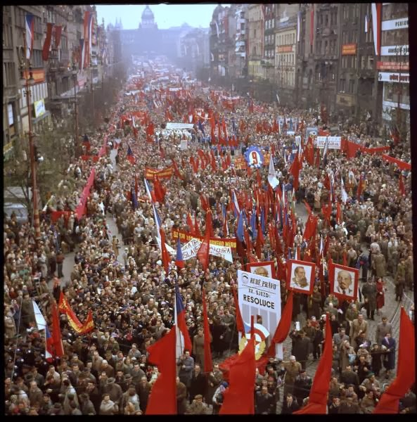 May Day Parade in Prague, Czech Republic in 1956 (5).jpg