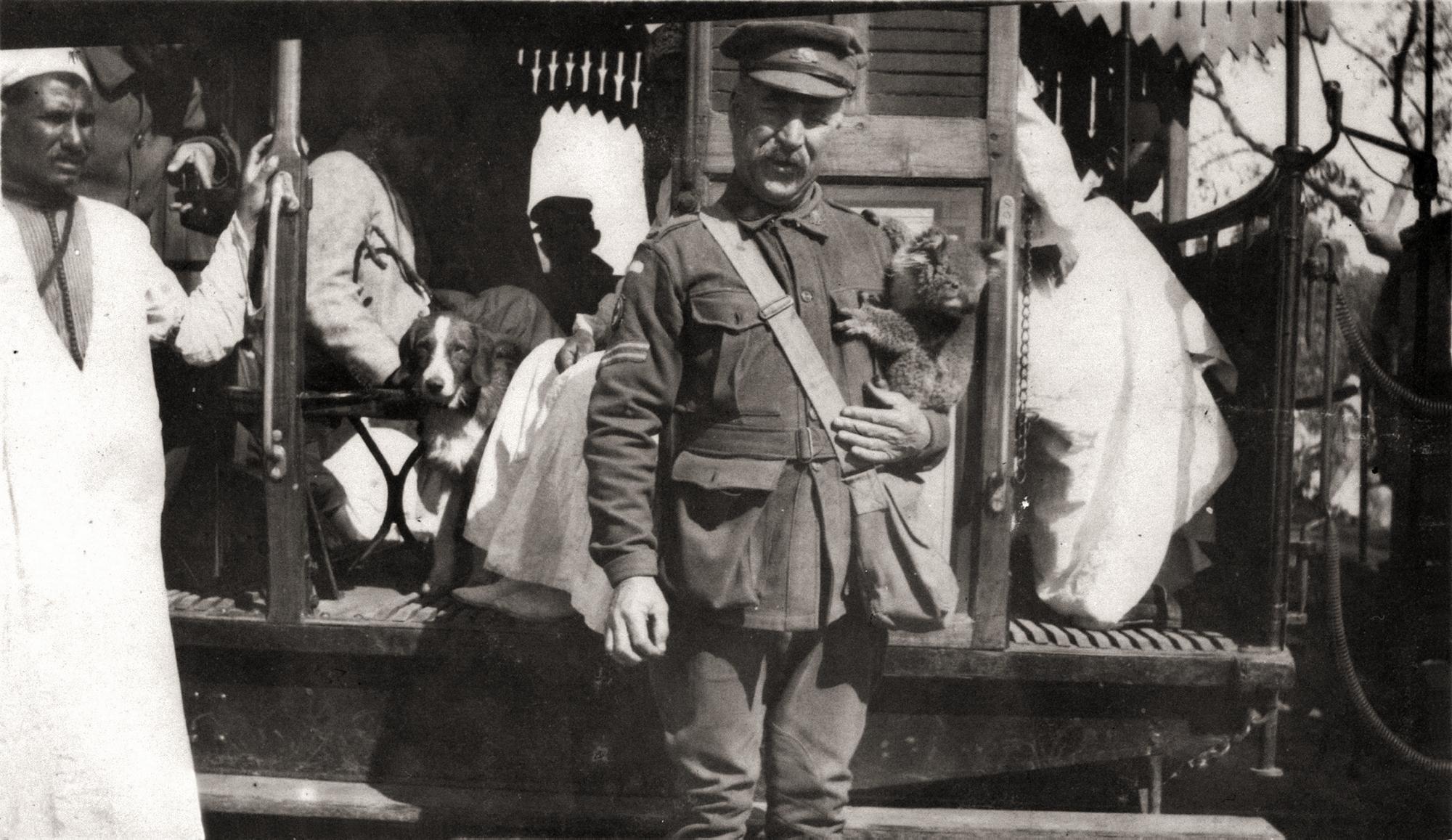 1915. 2. ausztrál hadtest őrmestere kabala koalájával, Kairó, Egyiptom.jpg