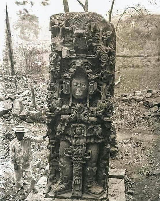 1885_vintage_photo_documenting_the_discovery_of_an_ancient_maya_statue_deep_within_the_jungles_of_honduras.jpg