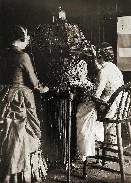1884. Női telefonközpontosok, Richmond, Virginia USA..jpg