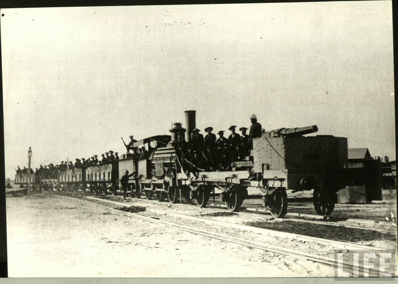 1900. Páncélozott szerelvény a búr háborúban. Dél-Afrika..jpg