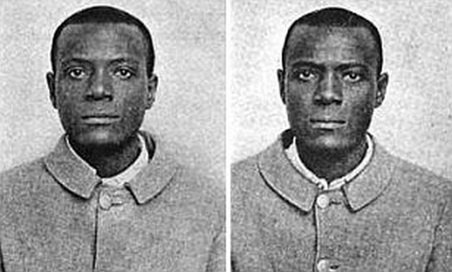 1905. A William West és Will West eset. Amikor a kansasi Leavenworth bűntetőintézetben a két Westet nem lehetett megkülönböztetni, az ujjlenyomatos azonosítás kezdett fontossá válni..jpg