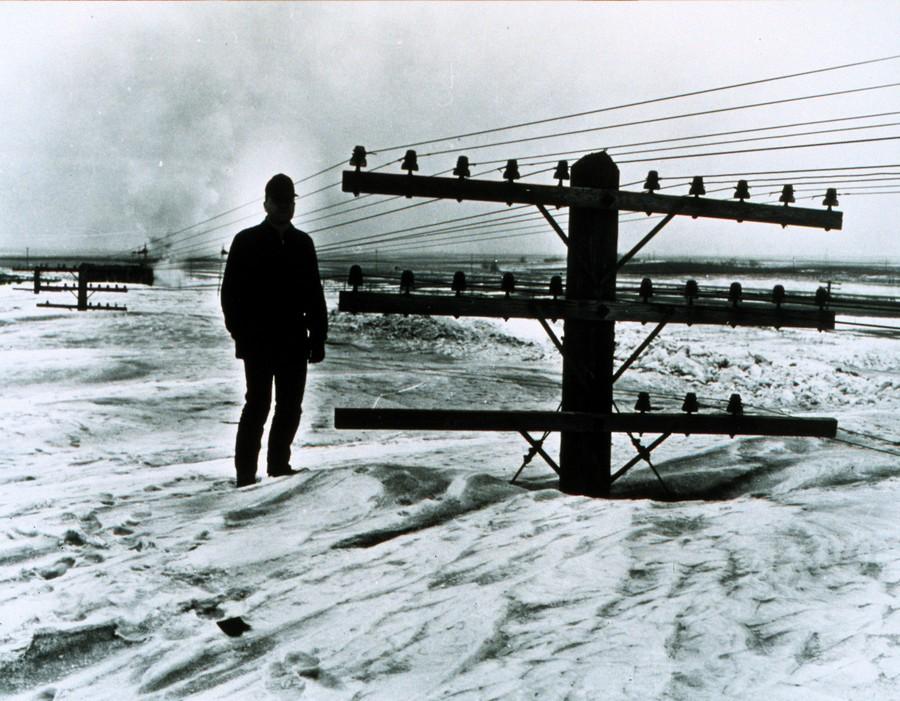 1966. Észak-dakotai hófúvás. A három nagy hófúvás egyike. 1888-ban 112-en, 1941-ben 34-en, míg a képen látható 1966-osba öten haltak bele..jpg