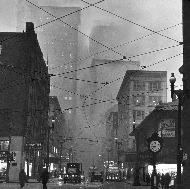 1940. Légszennyezés Pittsburgh-ben..jpg