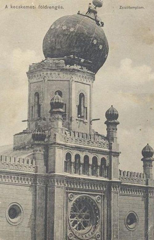 1911. A kecskeméti földrengésben megrongálódott zsinagóga..jpg