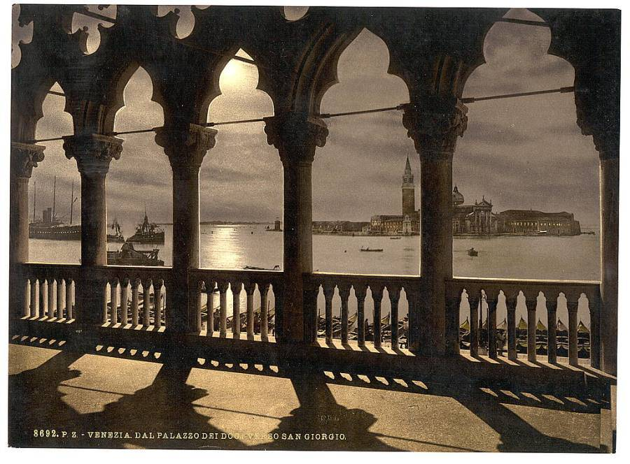 San Georgio from Doges' Palace by moonlight.jpg