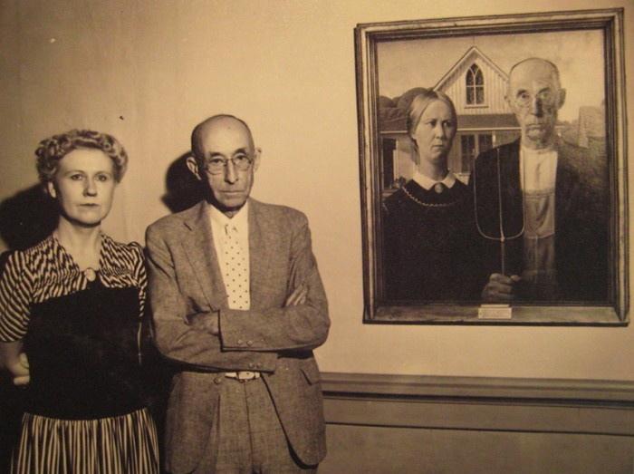 1930. American Gothic. A híres Grant Wood festmény és modelljei..jpg