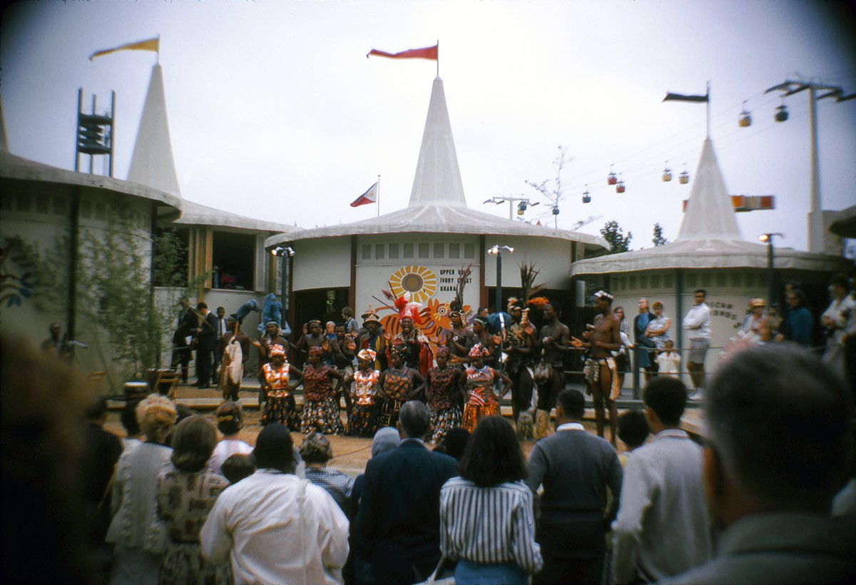 Afrika pavilon Ghána bemutatója