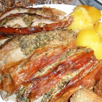 Zöldfűszeres sertéssült, azaz férfi a konyhában