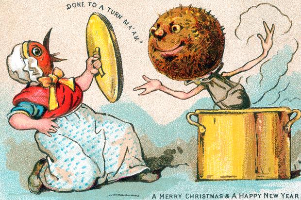 Bizarr karácsonyi képeslapok a múltból