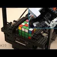 4x4x4-es Rubik kocka megoldása LEGO NXT-vel és Nokia N95-tel