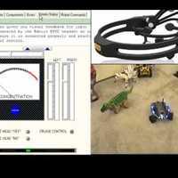 Agyhullámokkal és fejmozgással irányított robot