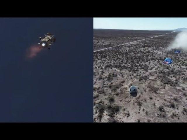 Blue Origin Szuborbitális tesztrepülés+landolás