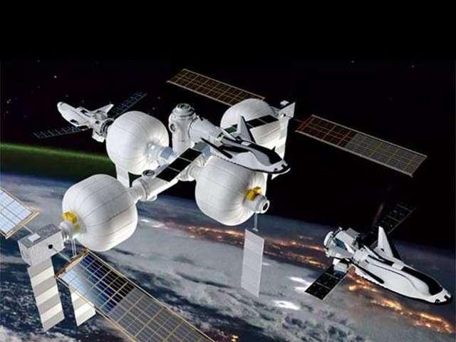 Ilyen lehet a jövő űrállomása az amerikai SNC cég szerint.
