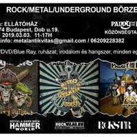 Tavaszváró Rock/metal/underground Börze + Paddy and the Rats dedikálás és közönségtalálkozó