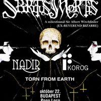 Spiritus Mortis – Koncertek Budapesten és Győrben