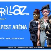 Gorillaz élő koncert végre 2017. november 13-án a Budapest Arénában!
