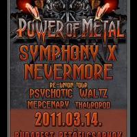 Symphony X, Nevermore és Psychotic Waltz a Petőfi Csarnokban