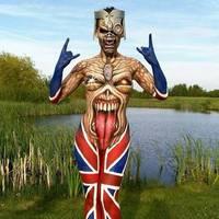 Klasszik Iron Maiden testfestés gyerekzsúrra