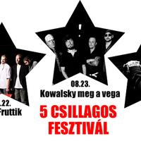 Öt sztárzenekar zenél és segít az Ötcsillagos Fesztiválon